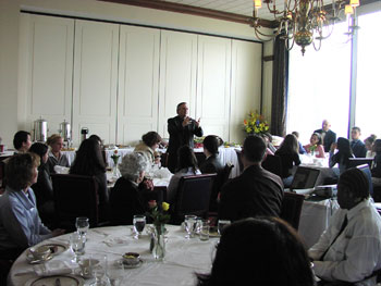 Massachusetts Department of Education Deputy Commissioner Mark K. McQuillan gave the keynote address at the dedication ceremony for the project on February 9, 2004 at Boston's Downtown Harvard Club.