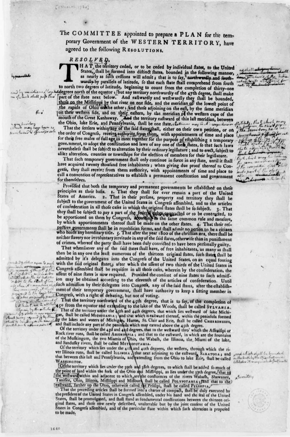 1784 Resolution