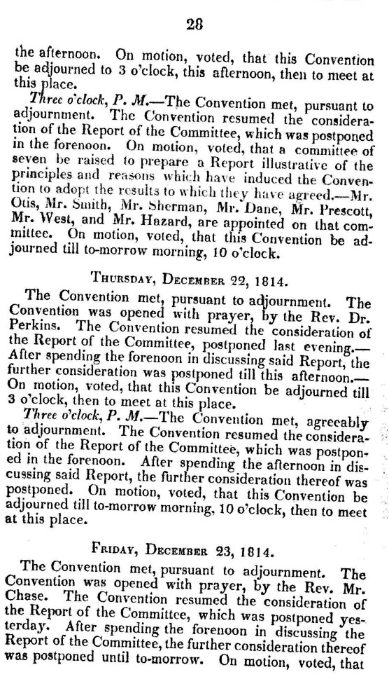 Nathan Dane's Role in the Hartford Convention of 1814-1815